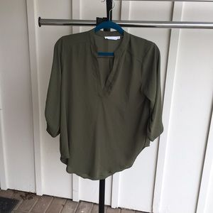 Lush army green blouse